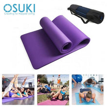 Load image into Gallery viewer, OSUKI - Yoga Mat 10MM Non Slip Sports Authentic Fitness Purple (WITH CARRY BAG)