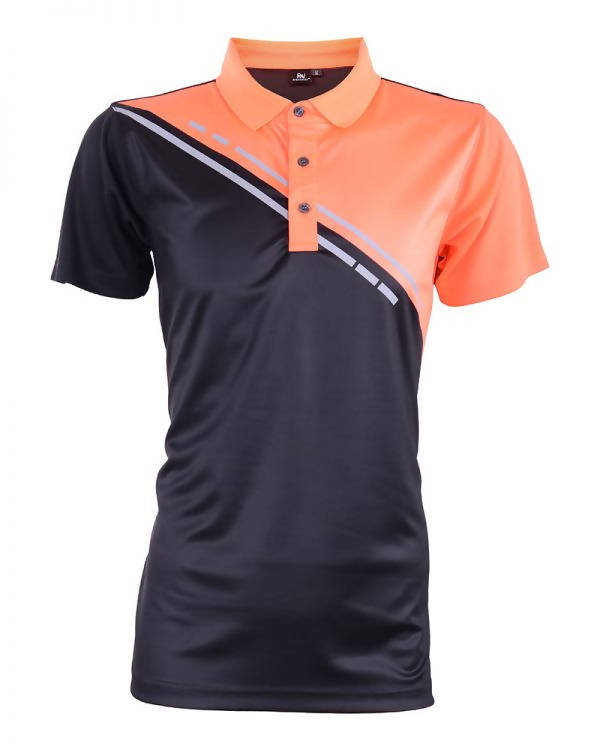 RIGHTWAY - Outréfit Reflective Design Polo Orange