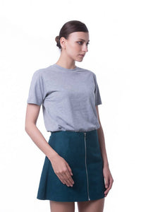 RIGHTWAY - Cotton Round Neck - Grey Mélange