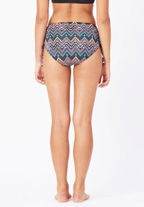 FUNFIT - Ruched Swim Bottom in Aztecal Print
