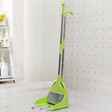 Load image into Gallery viewer, OSUKI - Japan Quality 2 IN 1 Attractive Broom & Dustpan (GREEN)