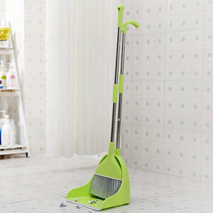 OSUKI - Japan Quality 2 IN 1 Attractive Broom & Dustpan (GREEN)