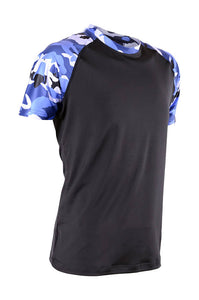 RIGHTWAY - Outré fit Sublimation Round Neck Navy Blue