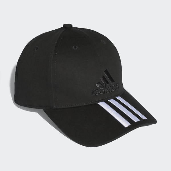 ADIDAS - Training Six-Panel Classic 3-Stripes Cap - Black