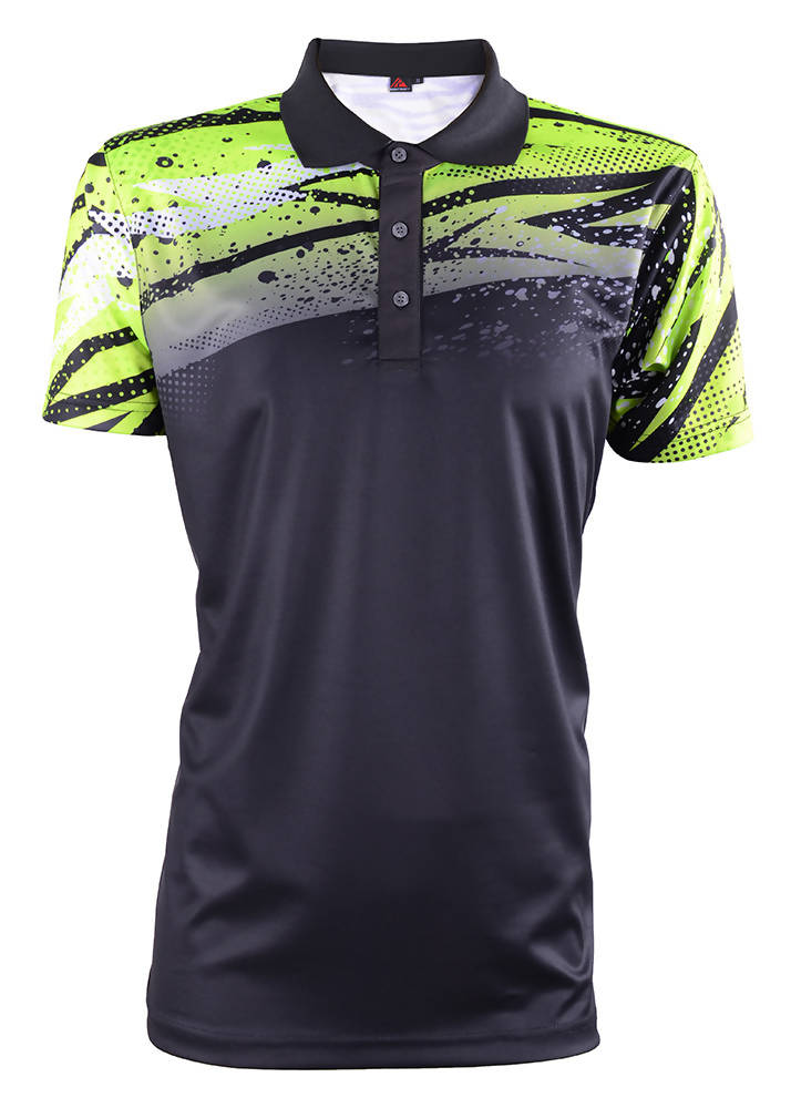 RIGHTWAY - Men's Outréfit Collared Black/ Volt Green