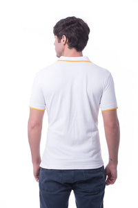RIGHTWAY - Signature Polo Unisex - Pure White/ Orange