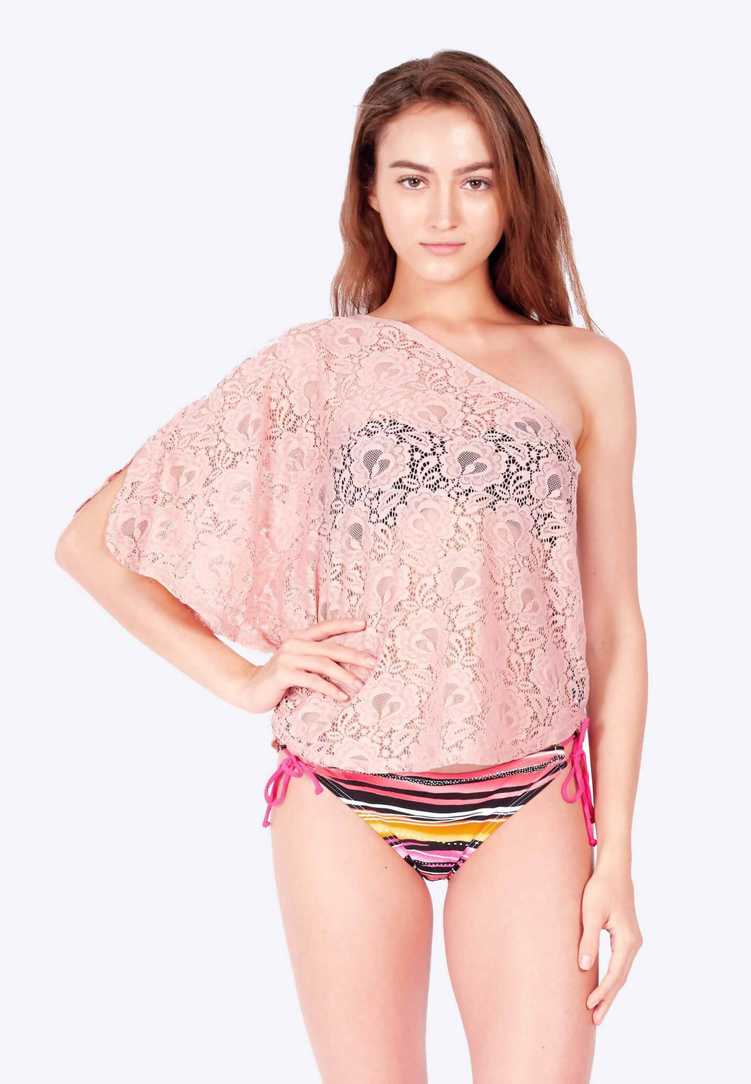 FUNFIT - Openwork Toga - Top in Dusty Pink