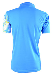 RIGHTWAY - Men's Outréfit Collared Ocean Blue / Yellow