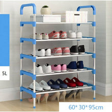 Load image into Gallery viewer, OSUKI - Solid Steel 5 Layer Shoe Rack (BLACK)