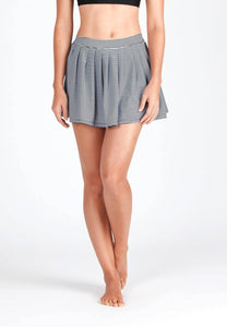 FUNFIT - Pleated Swim Skorts in Striped Print
