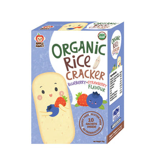 ECOPEAKS - Apple Monkey Organic Rice Cracker Blueberry Strawberry - (30g)