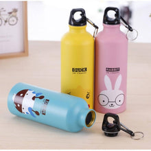 Load image into Gallery viewer, OSUKI - 500ML Colorful Cartoon Water Bottle (BLUE ELEPHANT)
