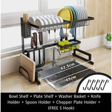 Load image into Gallery viewer, OSUKI - Stainless Steel Kitchen Dish Rack Sink Top Set (7 IN 1)