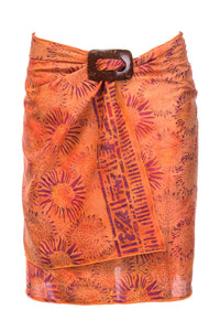 ARIZALI - Mini Sarong V Smoky - Orange Flower