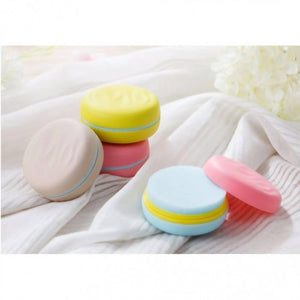 OSUKI - Portable Macaroon Shaped Double-Sided Cute Round Candy Color Sponge Shoe Brush Polisher (PINK)