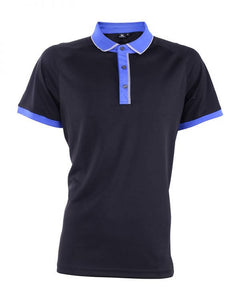 RIGHTWAY -Outréfit Reflective Design Polo Pirate Black/ Blue