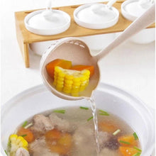 Load image into Gallery viewer, OSUKI - 2 IN 1 Long Handle Soup Spoon Skimmer Hot Pot Soup Ladle (BEIGE)