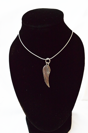 Angel Wing Pendant in sterling 925 silver with chain