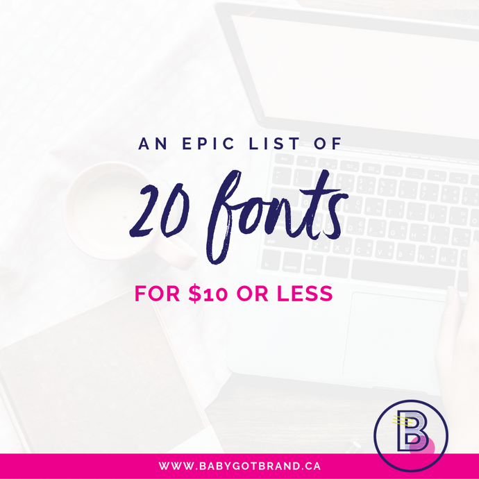 An EPIC list of 20 fonts for $10 or less