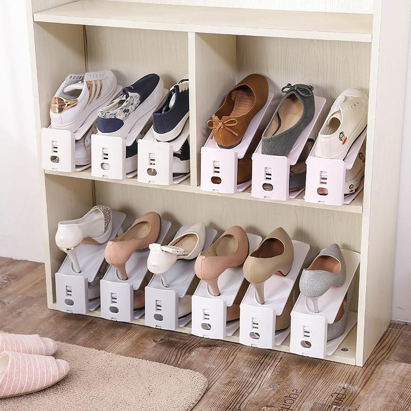 Newer Double Deck Shoe Rack A Space Saving Shoes Organizer Laymemall