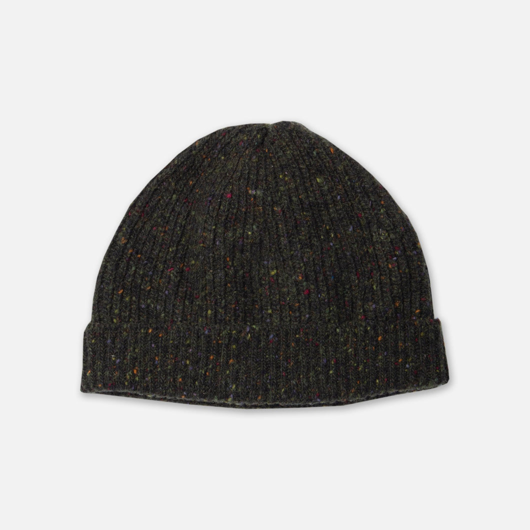 Donegal Ribbed Beanie - Dark Forest by Kestin Hare