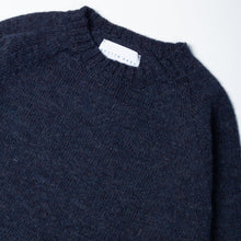 Load image into Gallery viewer, Shetland Crew Neck - Denim