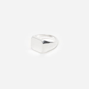 Flat Silver Ring - C by Idem October