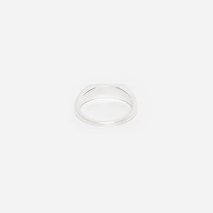 Thin Silver Signet Ring - E by Idem October