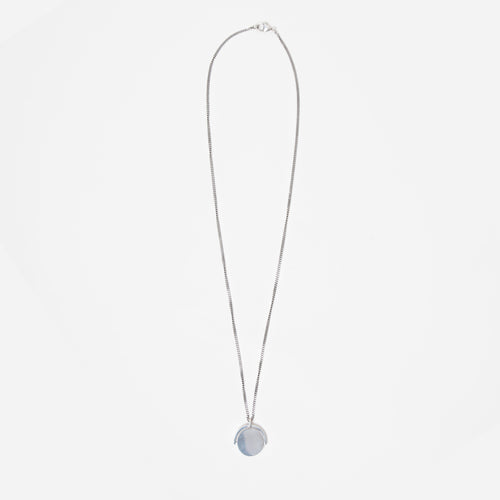 Silver Pendant Necklace - H by Idem October
