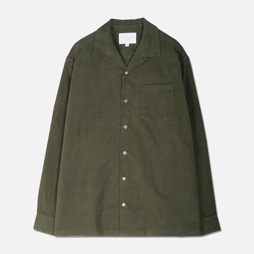 Tain Shirt - Japanese Flannel Olive by Kestin Hare