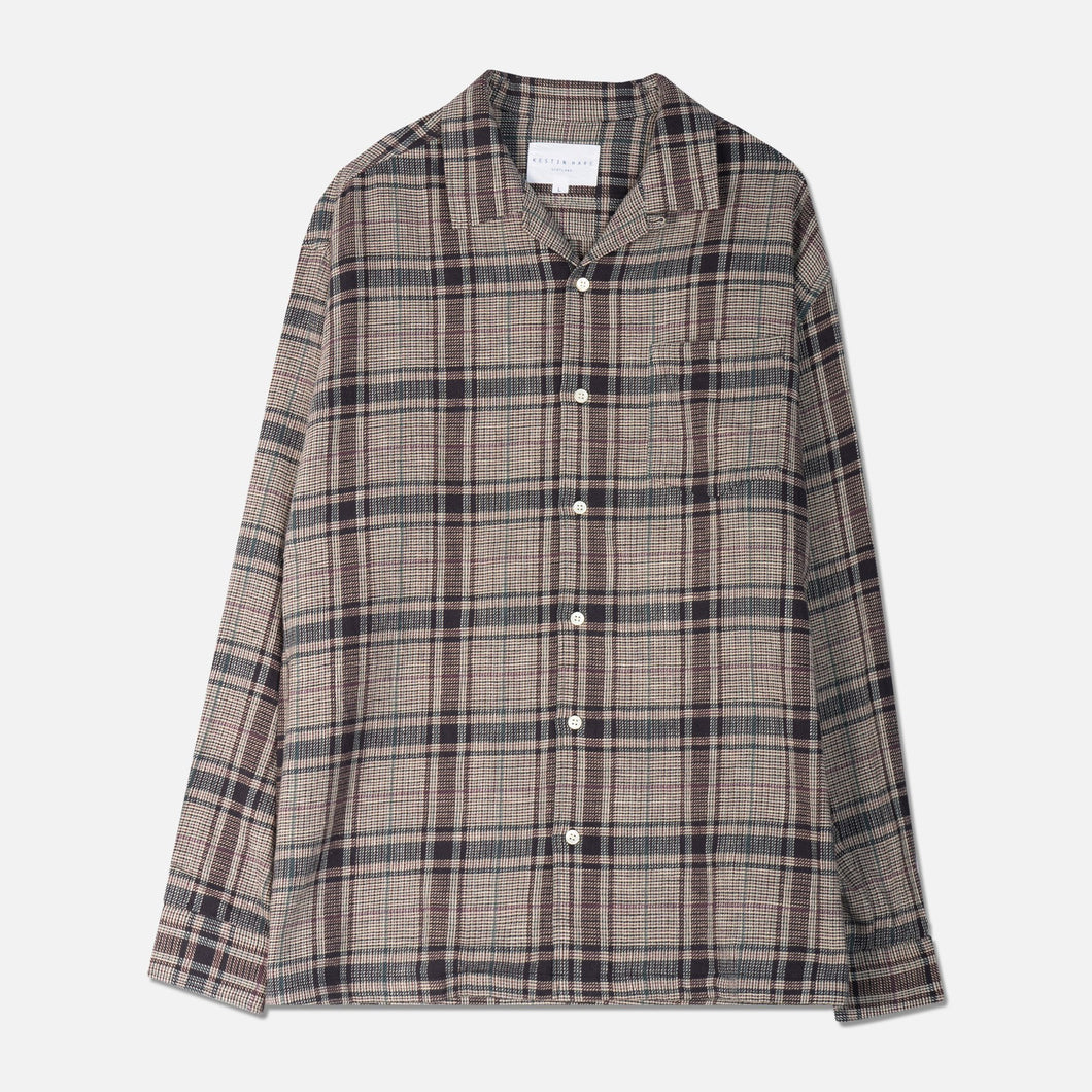 Tain Shirt - Lavender Cotton Check by Kestin Hare