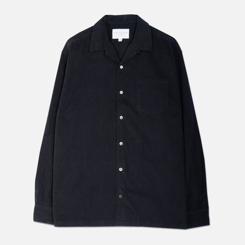 Tain Shirt - Japanese Flannel Navy by Kestin Hare