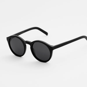 Barstow Black - Solid Grey Lens by Monokel Eyewear