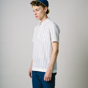 Buckthorn Shirt - Navy & Cream