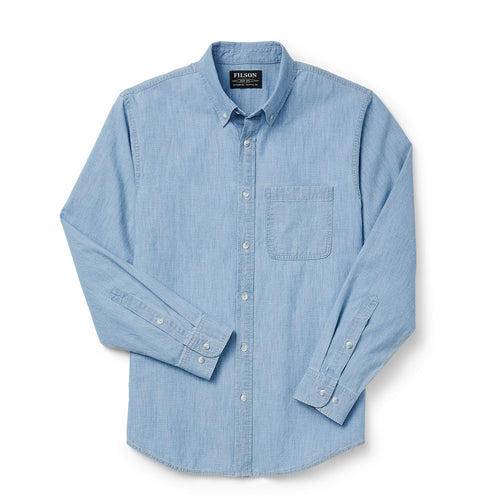 Chambray Button Down Shirt - Light Indigo