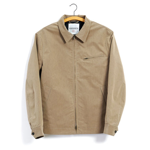 Dirk Short Zipper Windbreaker - Cardboard