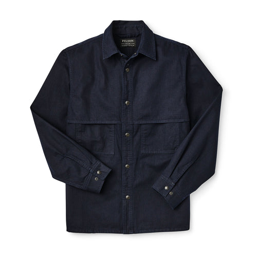 Herringbone Jac Shirt - Night Sky
