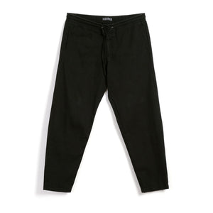Jim Casual Drawstring Trousers - Washed Black
