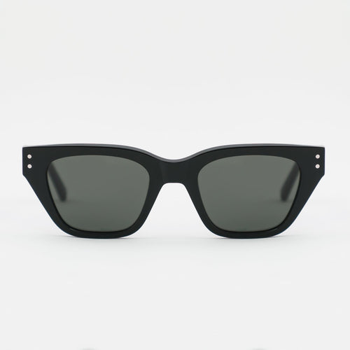 Memphis Black - Green solid lens