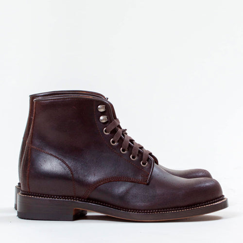 Military Boot - Brown Oil Calf by Uncle Bright