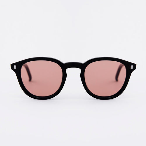 Nelson Black - Solid Orange Lens by Monokel Eyewear