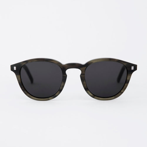 Nelson Green Demi - Solid Grey Lens by Monokel Eyewear