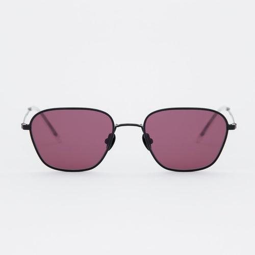 Otis Black - Pink solid lens