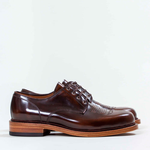 Western Derby - Cognac Highshine by Uncle Bright