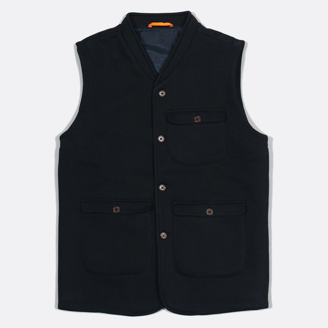 Whistler Gilet Fleece - Blue Graphite by Far Afield