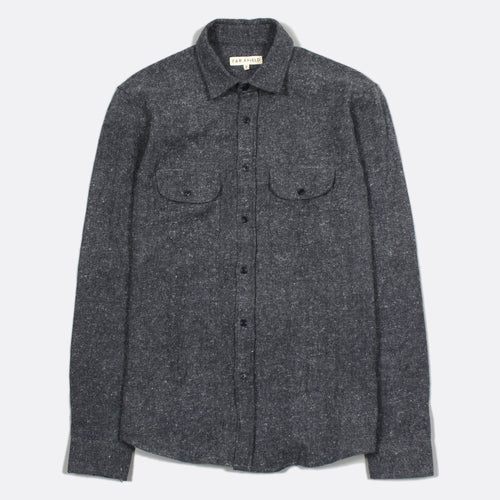 Workwear Shirt - Blue Graphite by Far Afield