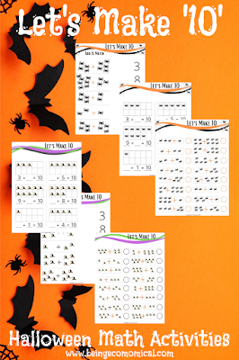 Halloween 'Let's Make Ten' Math Worksheets