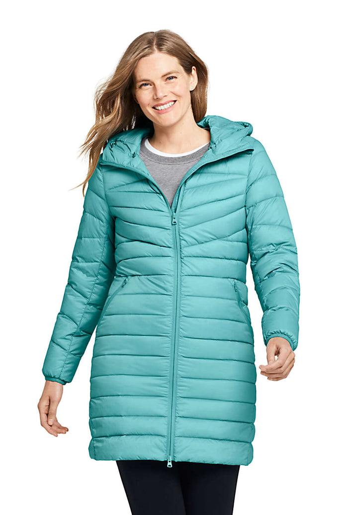 Lands End Womens Ultralight Packable Long Down Coat only $49.99