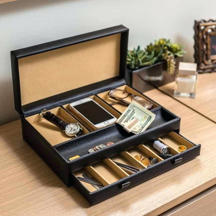 dresser organizer tray large organizer compartment valet jewelry watch box dresser wallet tray dresser top organizer tray.