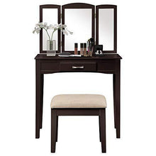 Explore harper bright designs vanity table set with mirror cushioned stool dressing table make up vanity dresserespresso